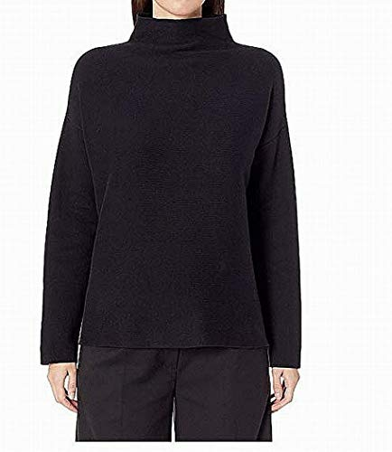 (Eileen Fisher Deep Women's Funnel Neck Knit Top Black XL)