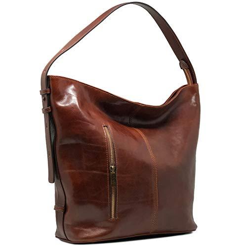 - Floto Sardinia Leather Tote Bag Convertible Crossbody Women's Bag (Vecchio Brown)