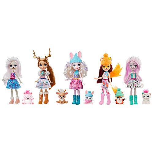 Enchantimals- Pack Regalo 5 Muñecas con Mascotas y Accesorios (Mattel GXB20)