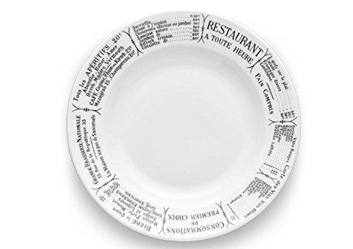 (Pillivuyt France, Brasserie Porcelain Soup/Pasta/Salad Bowl, 9 Inch diameter, 8 ounces capacity)