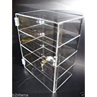 "305 Displays Acrylic Countertop Display Case 12"" x 6"" x 16"" Locking Security Showcase Safe Box"