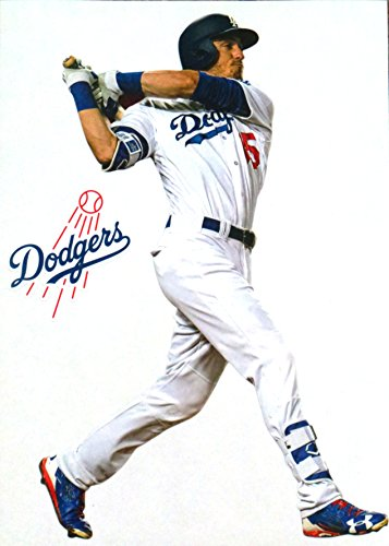 Cody Bellinger Mini FATHEAD Los Angeles Dodgers Logo Official MLB Removable and Re-Usable Vinyl Wall Graphic 7