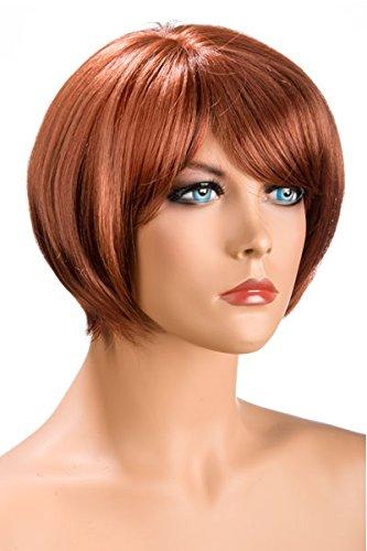 World Wigs Perruque Rousse Carré Court/Frange: