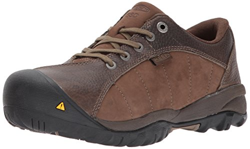 KEEN Utility Women's Santa Fe AT ESD Industrial and Construction Shoe, Cascade Brown/Shiitake, 6 M US by KEEN Utility
