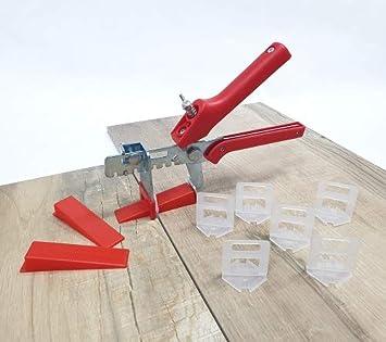 Fliesen Nivelliersystem Verlegesystem Verlegehilfe 1000 Laschen+200 Keile+Zange
