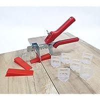 Tegelnivelleringssysteem rood tegeldikte 3-12 mm basis + set 2 mm 400 tabs 100 wiggen + tang installatiesysteem…