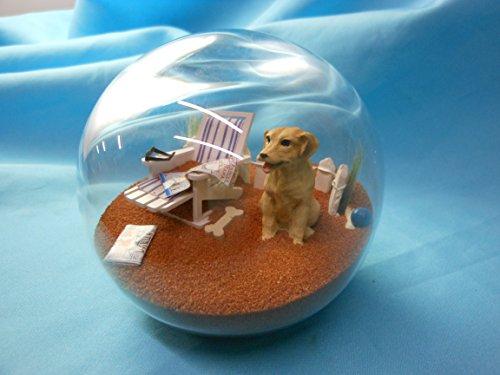 Beachball Sandglobe Puppy Dog Sphere, 4 Inch Diameter, Yellow Lab