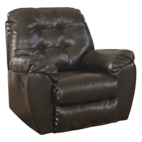 Durablend Reclining Sofa (Flash Furniture Signature Design by Ashley Alliston Rocker Recliner in Chocolate DuraBlend)