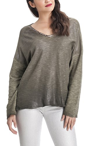 Laura Moretti - Suéter o Jersey fino estilo oversized con lentejuelas Verde