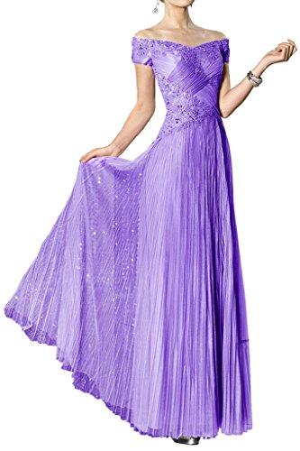 tulle ball sposa un'ampia vestimento spalla Viola moda di vestimento Toscana alla una festa serata per wIXdqO776