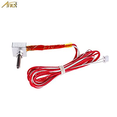 Anet Hot End Kit for A8 3D Printer, Includes 0.4mm MK8 Brass Extruder Nozzle, 30mm A8 Throat Teflon Tubing, Heater Block, NTC 3950 Thermistor, 12V 40W Heater