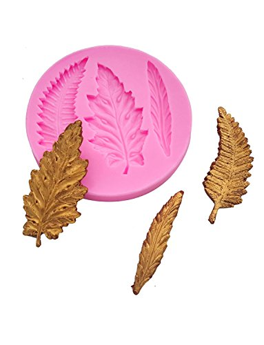 Sharlity 4Pcs Assorted Leaf Silicone Candy Mold for Sugarcraft Chocolate Fondant Resin Polymer Clay by Sharlity (Image #5)'