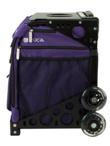 Zuca Rebel Sport Insert Bag (Deep Purple) with Black Non Flashing Wheels Sport Frame