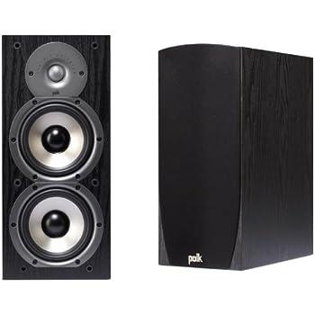 Polk Audio Monitor 45B Bookshelf Speakers Black Set Of 2