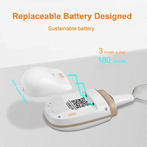 GYENNO Parkinson Spoon For Hand Tremor,Smart Anti-Tremble Steady Spoon Comfortable Safe Integrates Intelligent Control Modules For People with Hand Tremor by LONPOO (Image #4)