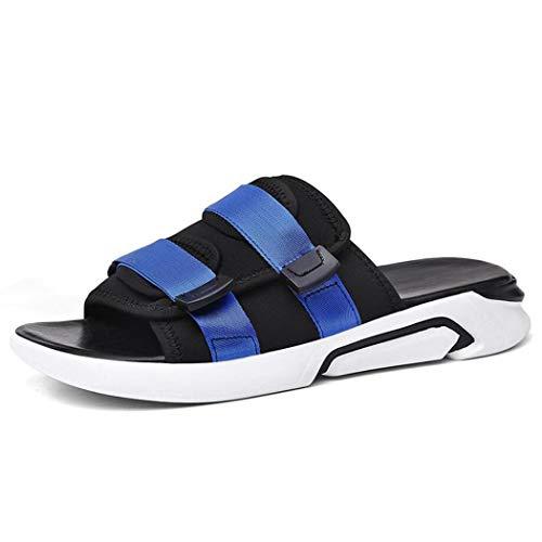 Pu a Playa Verano Moda Sandalias Sandalias Zapatos 41 De Hombres Cuero Gruesas Transpirable Cómodos Los Zixuap Salvaje v4W7Zwqqn