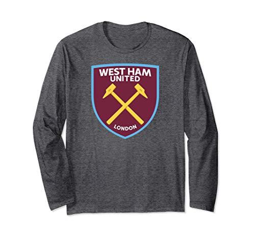 West Ham Shirt - Mens West Ham United Color Crest T-shirt Charcoal
