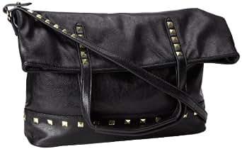Steve Madden Borigami Messenger Bag,Black,One Size