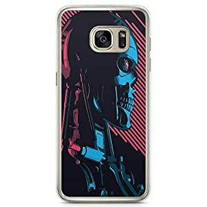 Loud Universe Terminator Style Samsung S7 Case Dead Robot Samsung S7 Cover with Transparent Edges