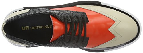 United Nude Geo Wing Lo, Scarpe Stringate Donna Beige (Beige (Mist Hot Red))