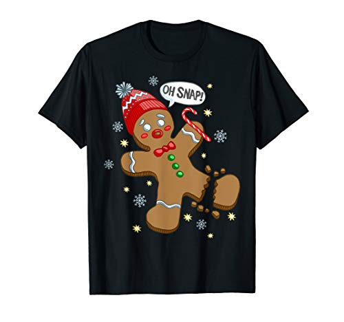 Gingerbread Man Oh Snap Christmas T-Shirt (Oh Christmas T-shirt Snap)