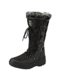 Women's Winter Warm Boots Knee High Protective Rain Boot Fur Lined Skiing Shoes