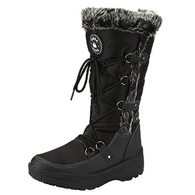 Amazon.com | Women's Knee High Water Resistant Warm Snow Boots Eskimo