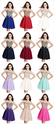 Babyonline Black Junior's Short Gold Homecoming Lace Quinceanera Applique Dresses qw16gHaAq