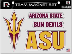 (Rico Industries NCAA Arizona State Sun Devils Die Cut Team Magnet Set Sheet)