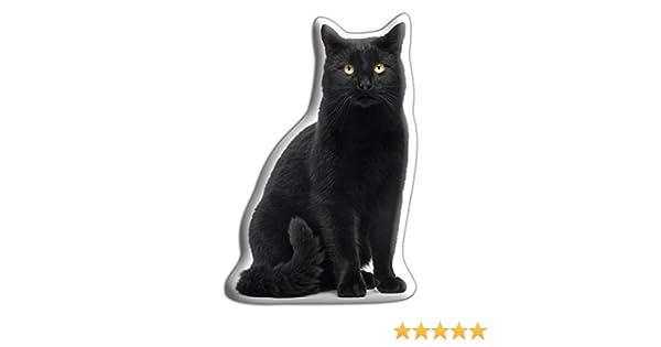 Adorable los oídos - de Cara de Gato Negro con cojín en Forma de: Amazon.es: Hogar