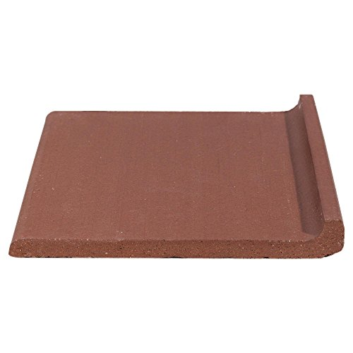 Base Cove Tile - 6X6 COLONIAL RED QUARRY COVE BASE TILE, Pack of 18