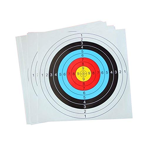ADSRO 10pcs Shooting Target Paper, Shooting Training Bow and