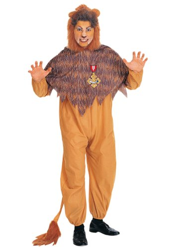 Cowardly Lion Wig (Rubies Mens Cowardly Lion The Wizard Of Oz Theme Party Fancy Costume, Standard (up to 44))