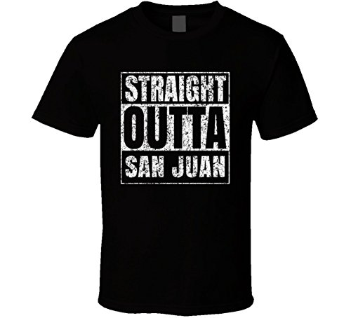 Straight Outta San Juan Argentina City Pride Proud Cool Funny T Shirt S Black