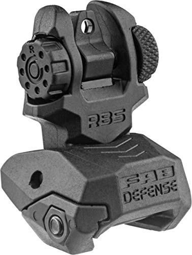 Fab-Defense Front and Rear Set of Flip-Up Sights, Black fx-frbskit ()