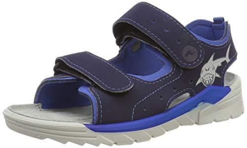Ricosta Boys'' Surf. Ankle Strap Sandals Blue (Nautic/Azur 171) 7 UK ()
