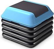 """Giantex 12"""" High Step Aerobic Platform System 4 Risers Fitness Exercise Stepper Platform Cardio Wo"""