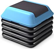 Gymax High Step Aerobic Platform, Cardio Fitness Exercise Stepper, Aerobic Stepper w/Risers