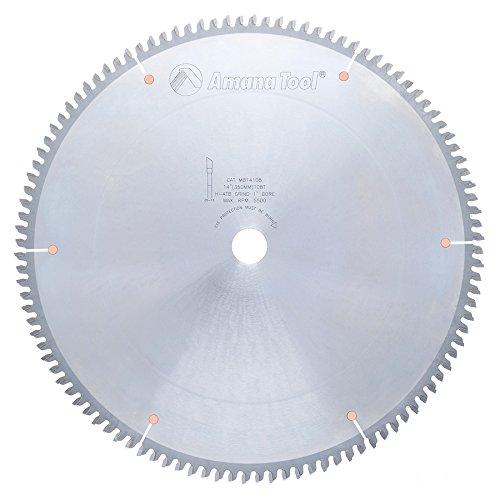 Amana Melamine Blade (Amana Tool MB14108 Carbide Tipped Double-Face Melamine 14 Inch D x 108T H-ATB, -6 Deg, 1 Inch Bore, Circular Saw Blade)