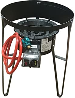 Bioexcel Heavy Duty Portable 30,000 BTU Burner with High Pressure Regulator & Electric Strike 28 &