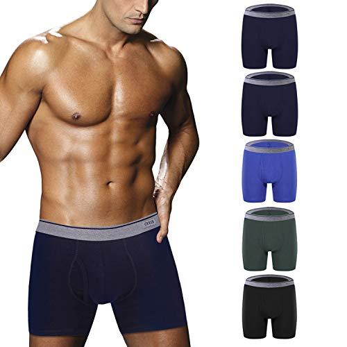 Ddgoo Men's Comfortable Bamboo Fiber Boxer Briefs