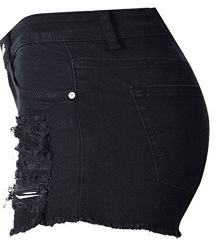 Trous Coton Taille Trou Noir Shorts Haute Jeans Denim Pantalon Pantalon Denim Hot D't lastique Femmes Beautisun Haute Pocket Shorts Shorts Denim 0qx4wOIRS7