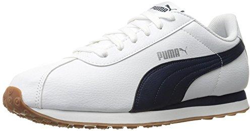 Puma Mens Turin Fashion Sneaker, White/Peacoat, 43 D(M) EU/9 D(M) UK