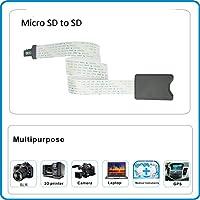 OUSHE - Cable de extensión micro SD a SD (48 cm, flexible, 4 8 16 ...