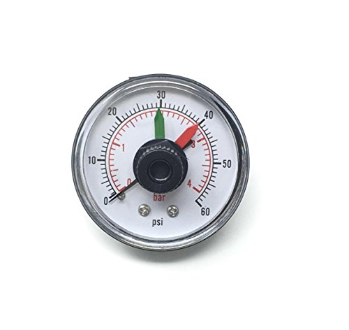 Pool Filter Pressure Gauge Thread Back Mount with Start Clean Dial Replaces ECX2712B1