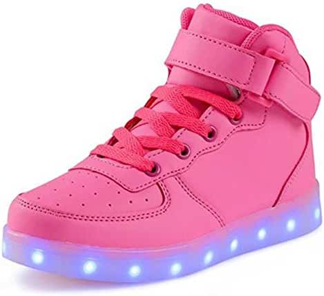 BEIKING High Top Led Shoes Light Up USB Charging Flashing Sneakers for Kids Girl Boy Men Women