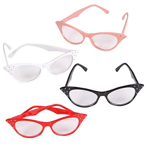Cat Woman Dress Up - Cat Eye Glasses with Rhinestones -