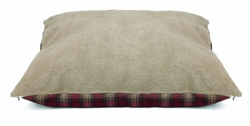 Dallas Manufacturing Co. Products Fleece Pet Bed, Red Plaid, 36 by 45-Inch (Pet Manufacturing Dallas Bed)