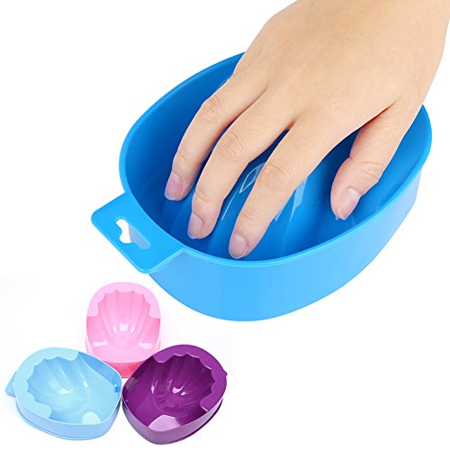 Hacloser Soak Bowl for Nails, Soak off Gel Remover Bowl Manicure Nail Art Gel Remover Tool, Hand Spa Bath Tray, Color Random