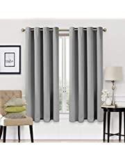 Blackout Curtains 2 Panels Set Thermal Insulated Window Treatment Solid Eyelet Darkening Curtain for Living Room Bedroom Nursery